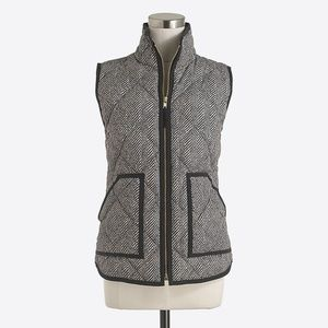 J. Crew Factory Printed Quilted Puffer Vest XS